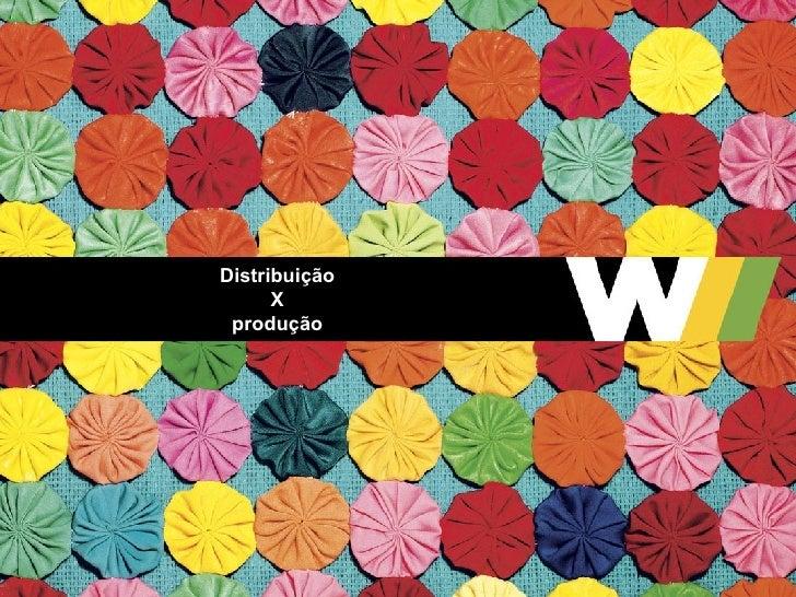 Distribuição X produção