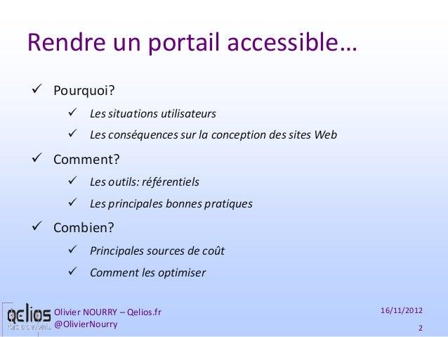 Rendre un portail accessible - journée Accessibilité de l'ADULOA Slide 2