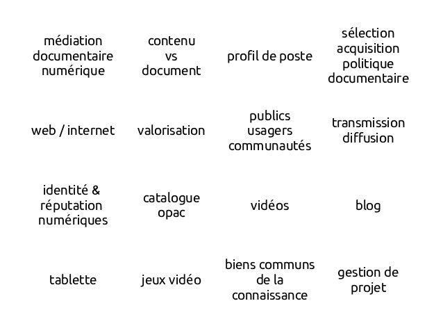 m diationé documentaire num riqueé contenu vs document profil de poste s lectioné acquisition politique documentaire web /...