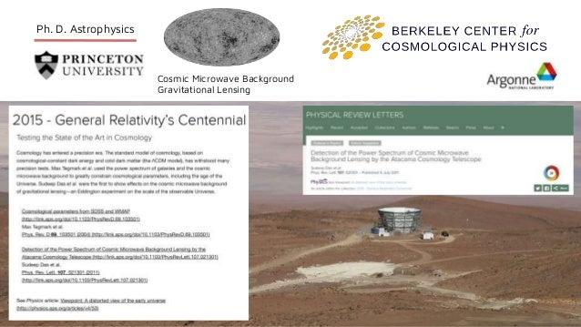 Ph. D. Astrophysics Cosmic Microwave Background Gravitational Lensing