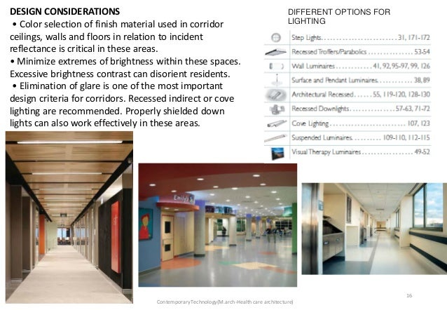 Lighting in hospitals for Apartment design considerations