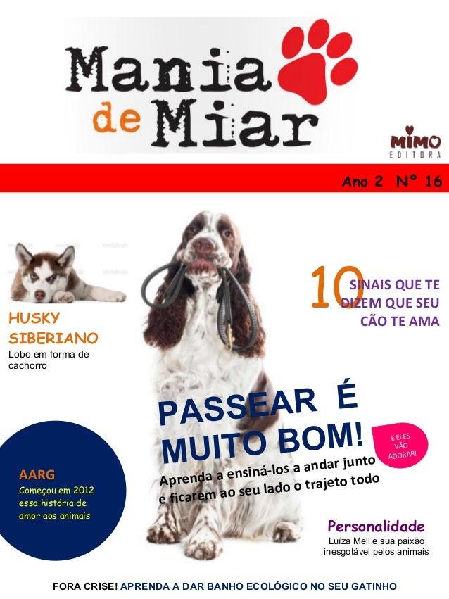 Ano 2 Nº 16 FORA CRISE! APRENDA A DAR BANHO ECOLÓGICO NO SEU GATINHO HUSKY SIBERIANO Lobo em forma de cachorro Personalida...