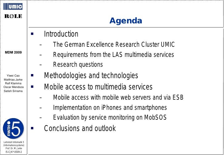 Agenda                                 Introduction                              –      The German Excellence Research Cl...