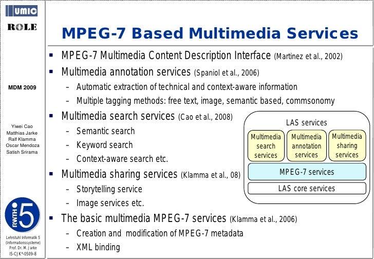 MPEG-7 Based Multimedia Services                           MPEG-7 Multimedia Content Description Interface (Martinez et a...