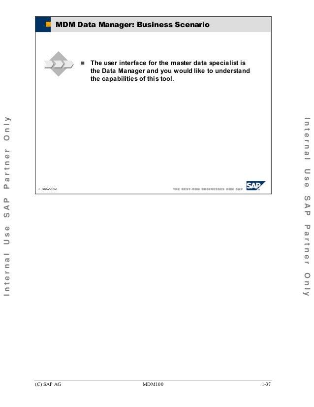 Mdm100 master datamanagement – Master Data Specialist
