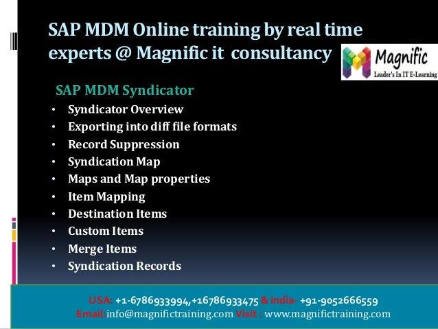 sap mdm inline training in usa