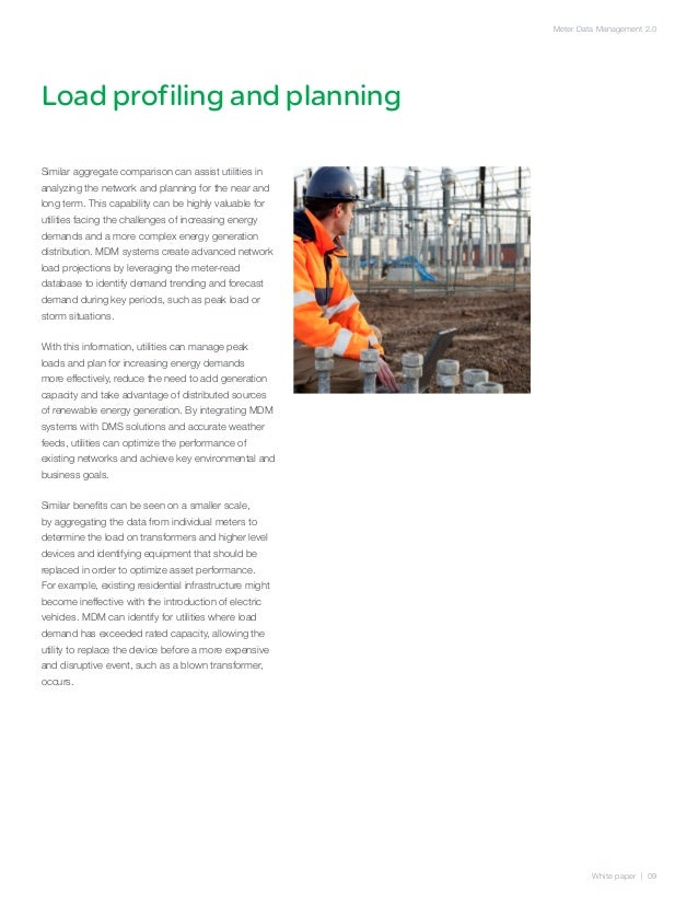 Meter Data Management 2.0Load profiling and planningSimilar aggregate comparison can assist utilities inanalyzing the netw...