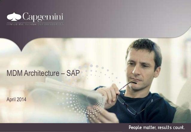 MDM Architecture – SAP  April 2014