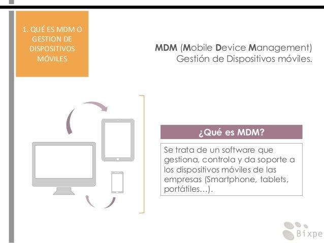 MDM - Gestión de dispositivos móviles Slide 3