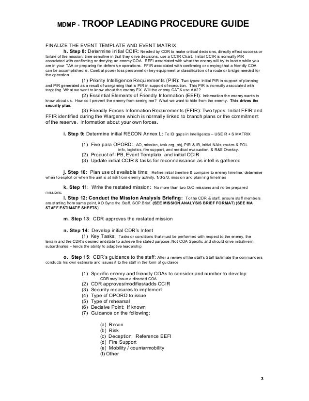 army briefing template - opord format