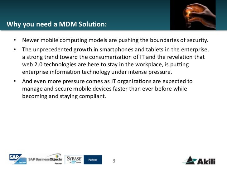 Mdm solutions comparison