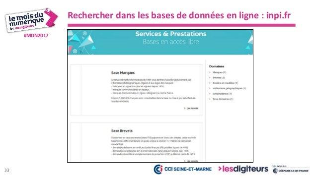 #MDN2017 Rechercher dans les bases de données en ligne : inpi.fr 1- Base brevets 34