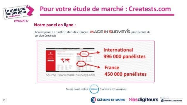 #MDN2017 Quelques exemples de profils qui peuvent être ciblés :  Hommes et femmes âgés de 18 à 65 ans, résidant en France...
