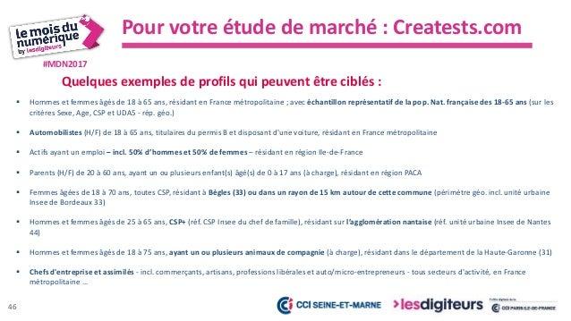 #MDN2017 Pour votre étude de marché : Creatests.com Quelques exemples de prix pratiqués (en plein tarif pour des prestatio...