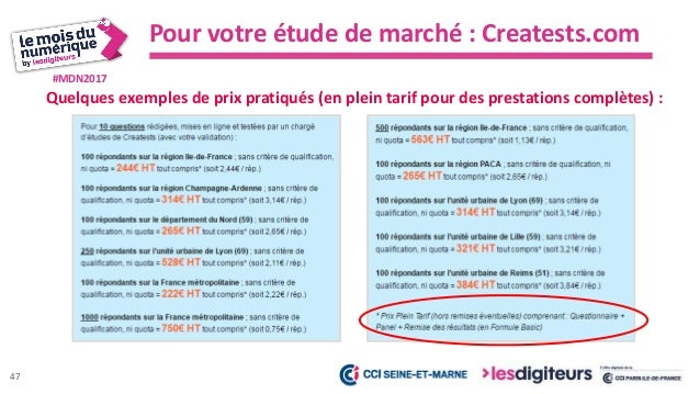#MDN2017 Creatests, c'est aussi : Pour votre étude de marché : Creatests.com 48  Un service dédié aux entrepreneurs depui...