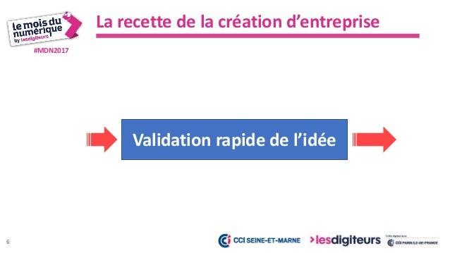 #MDN2017 La recette de la création d'entreprise Les tendances Le contexte, les forces et faiblesses du marché Vision – Mis...