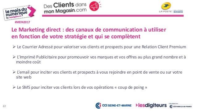 #MDN2017 23 Une Solution de communication multicanale permettant : • La gestion en ligne de campagne de fidélisation ou de...