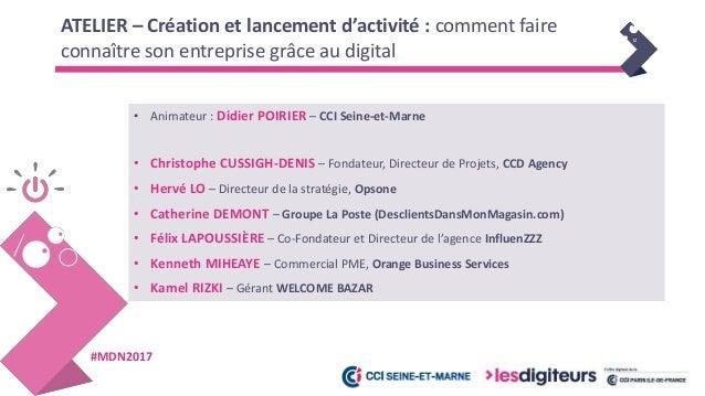 #MDN2017 Création d'un site internet - Christophe CUSSIGH-DENIS