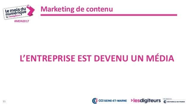 #MDN2017 Marketing de contenu 12 VOUS DEVEZ ARRÊTEZ DE CRÉER DU CONTENU À L'AVEUGLE