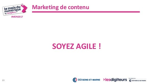 #MDN2017 Marketing de contenu 24 VOUS DEVEZ ÊTRE IMPLIQUÉ