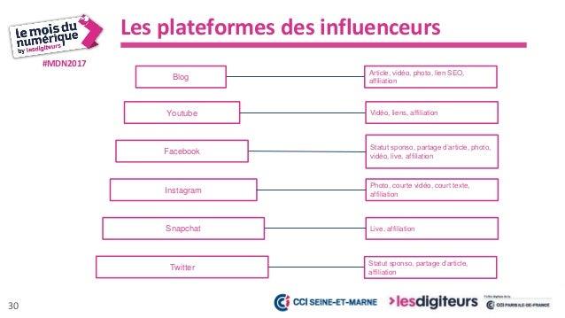 #MDN2017 Les avantages du marketing d'influence, ses KPI 31 Des publications Des mentions Des nouveaux prospects De nouvea...