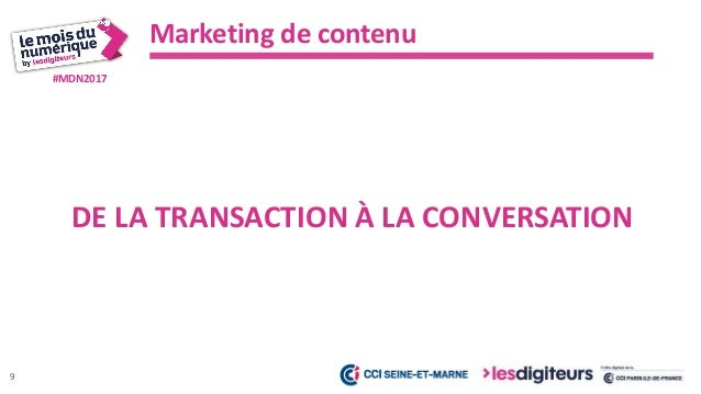 #MDN2017 Marketing de contenu 10 INTERNET EST SATURÉ