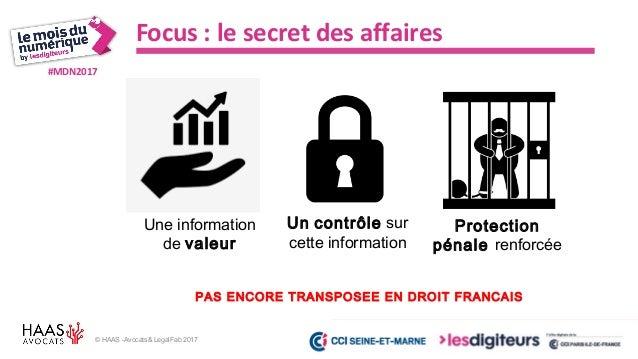 #MDN2017 Allier Big Data et confiance - Maître Frédéric PICARD