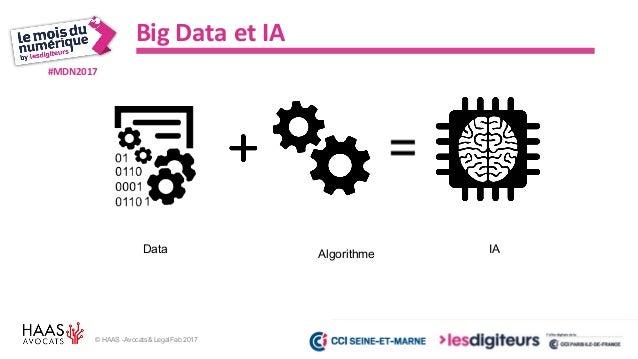 #MDN2017 © HAAS -Avocats& LegalFab 2017 Big Data et IA Donner une personnalité juridique aux future IA autonome ? Penser u...