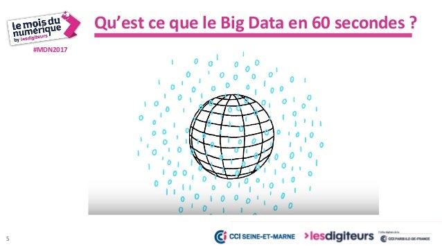 #MDN2017 Définition : Les 4V du Big Data 200 adresses 6 20 millions de clients 400 millions de tweets par jour 8 milliard ...