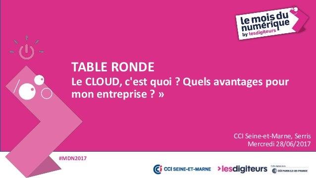 Le CLOUD, c'est quoi ? - Mois du numérique 2017 Slide 2