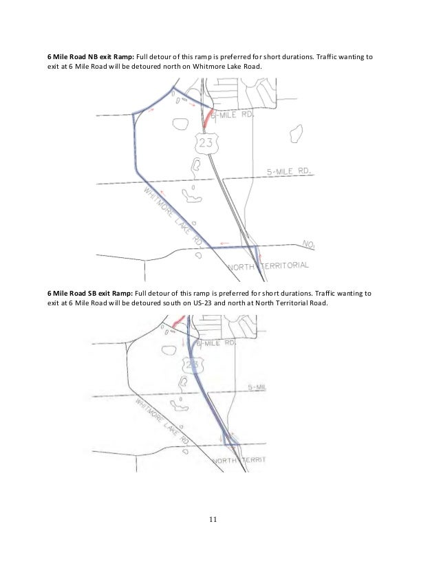 mdot us 23 construction projects planned detours january 2015 Construction Site Planning 11