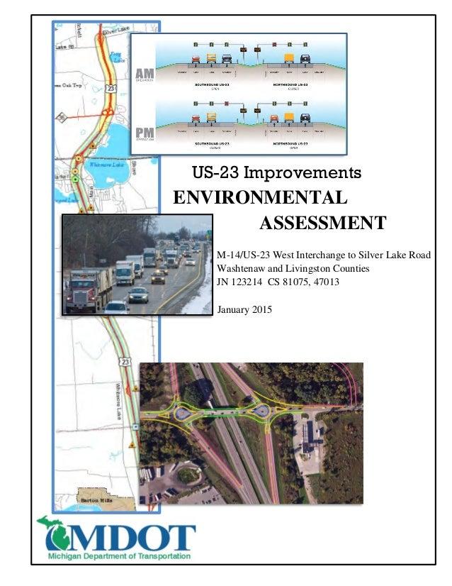 MDOT US23 Plans Environmental Assessment Update Full Document Janu