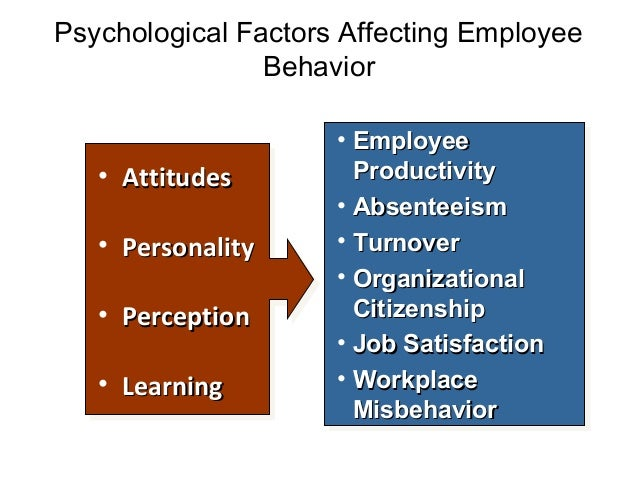 factors influence employees behavior with reference to job satisfaction Drivers of behavior some factors of job satisfaction may rank as more improving the level of job satisfaction for employees is another way that a company.