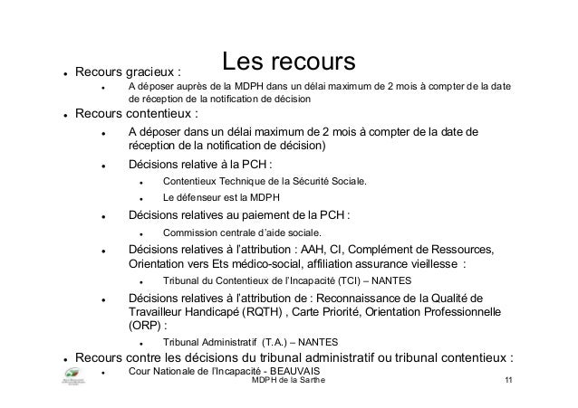 Delai Notification Mdph Et Paiement Caf