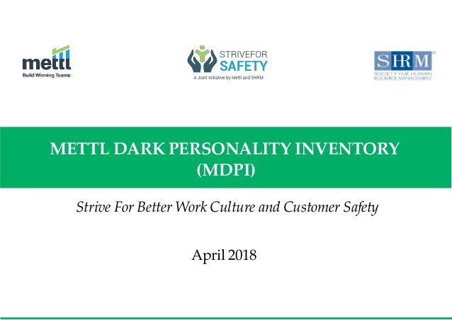 Mettl Dark Personality Inventory
