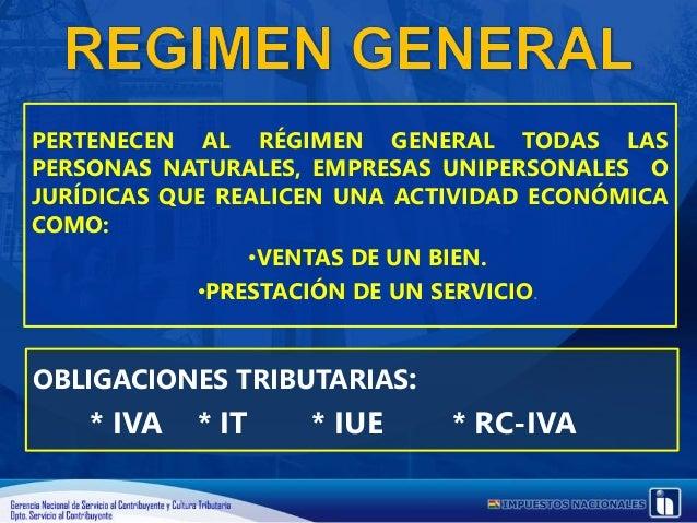 RÉGIMEN TRIBUTARIO SIMPLIFICADO EL EJERCICIO HABITUAL DE LAS ACTIVIDADES REALIZADAS POR: COMERCIANTES MINORISTAS VIVANDERO...