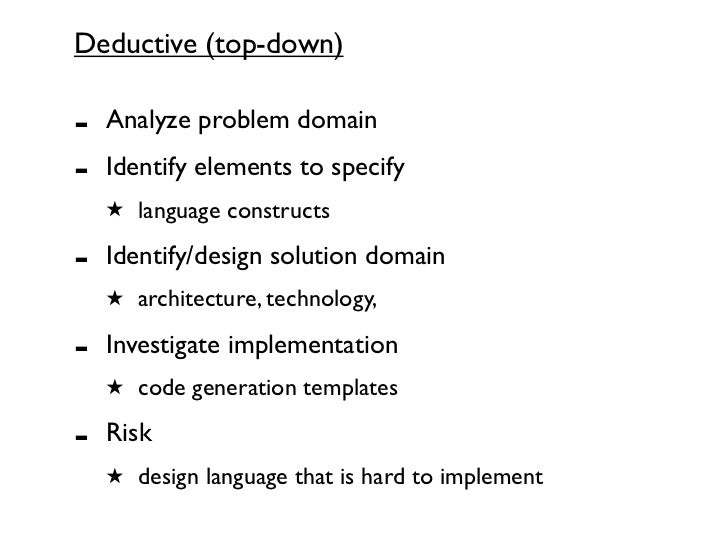 Strategies For Design Implementation Of Domain Specific Languages