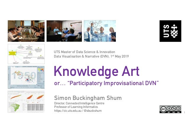 "1 Knowledge Art or… ""Participatory Improvisational DVN"" Simon Buckingham Shum Director, Connected Intelligence Centre Prof..."