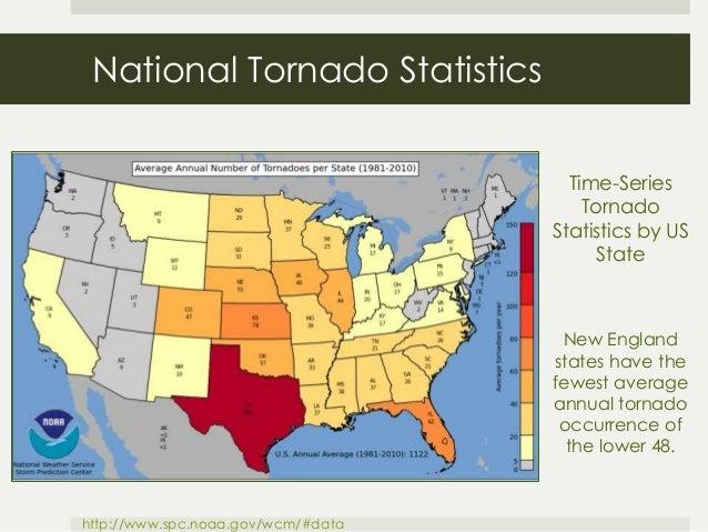 New england tornado hazard climatology and risk by md stampone 2 national tornado statistics time series tornado statistics by us publicscrutiny Gallery