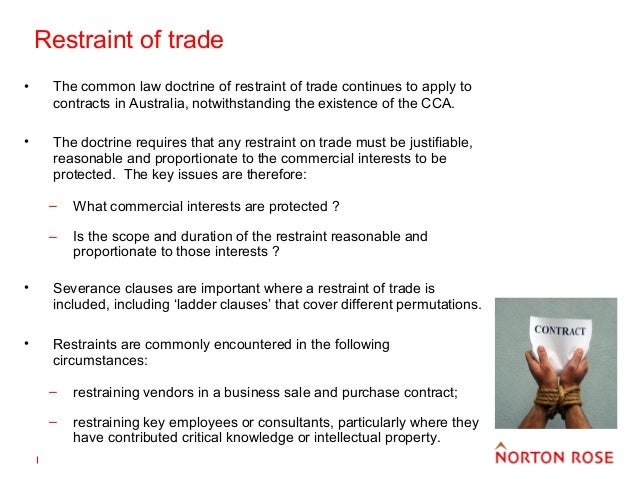 employment restraint of trade How to write a restraint of trade clause that can be successfully enforced.