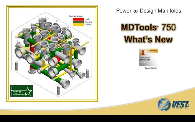 MDTools® 750 What's NewMDTools 750 What's NewPower-to-Design ManifoldsHochNominalNiedrigGeschwindigkeit
