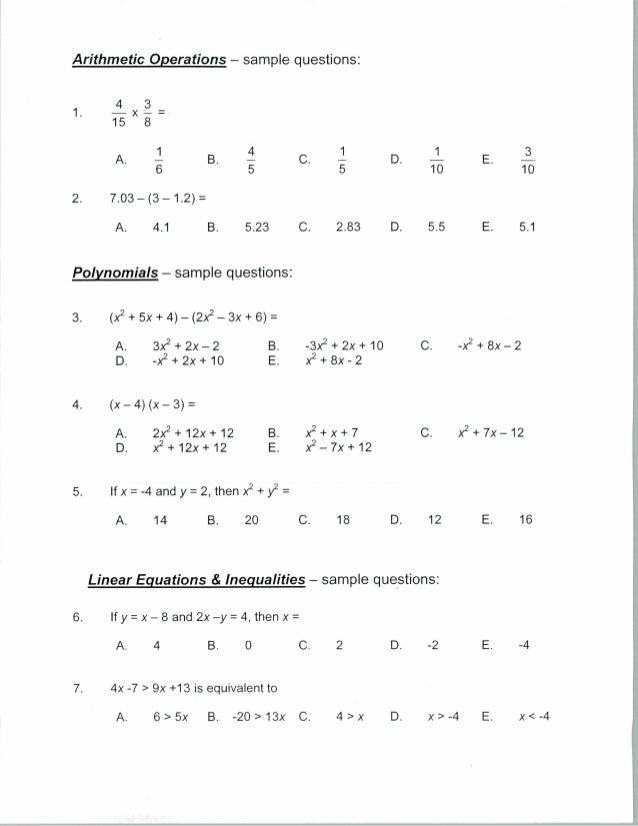 Algebra For Year 7 Worksheets Choice Image - worksheet for kids ...