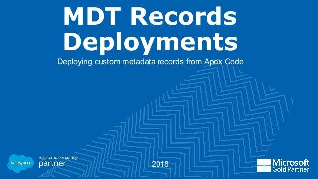 Custom Metadata Records Deployment From Apex Code
