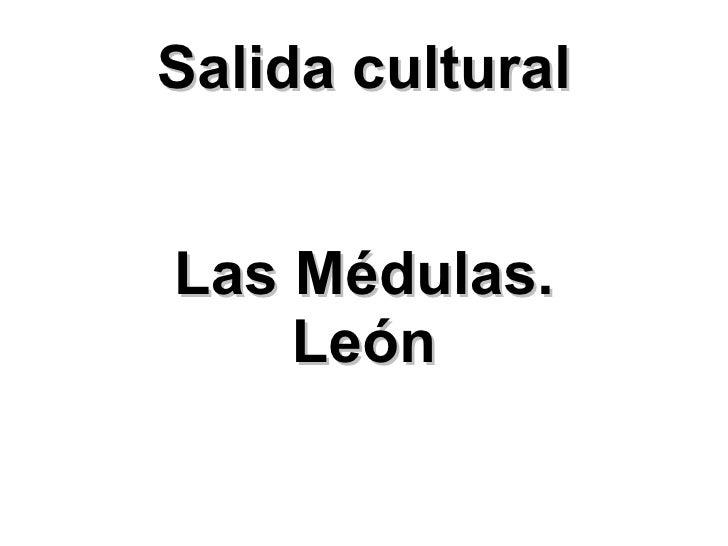 Salida cultural Las Médulas. León
