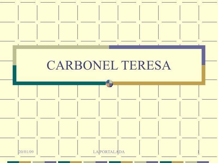 CARBONEL TERESA