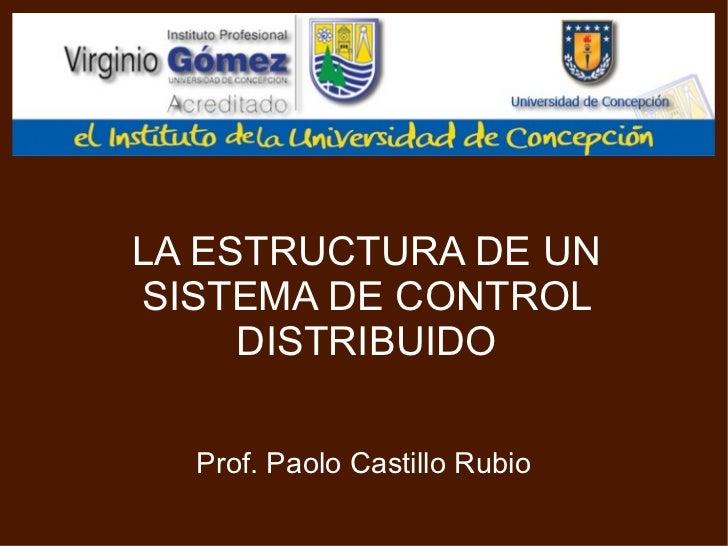 LA ESTRUCTURA DE UN SISTEMA DE CONTROL DISTRIBUIDO Prof. Paolo Castillo Rubio