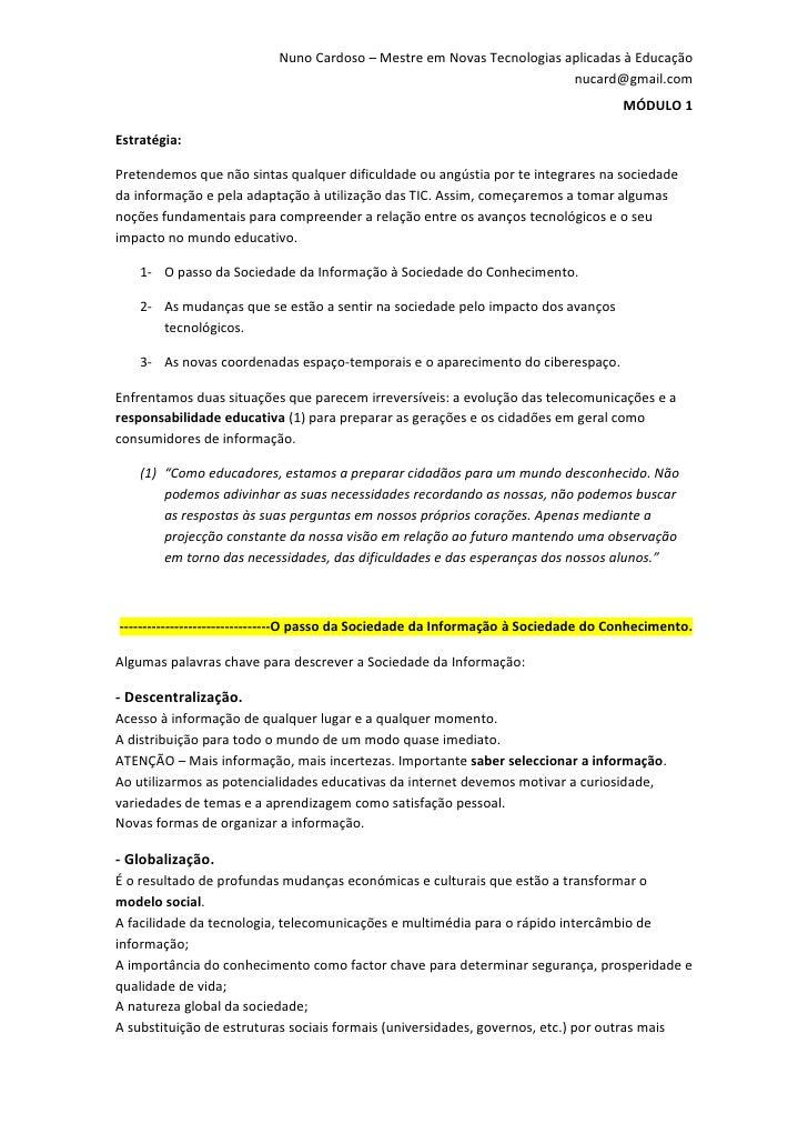 Nuno Cardoso – Mestre em Novas Tecnologias aplicadas à Educação                                                           ...
