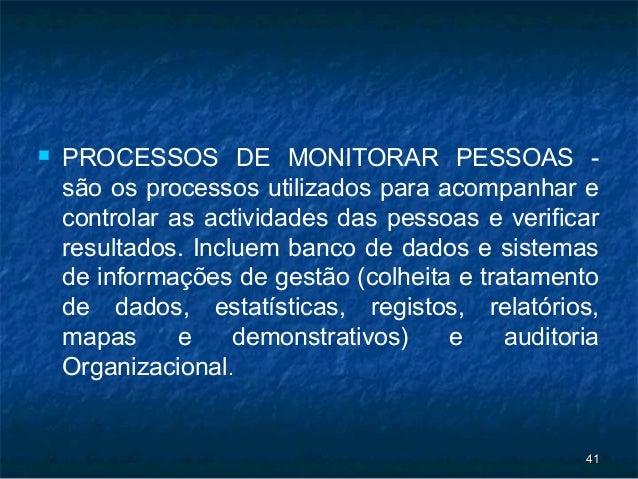    PROCESSOS DE MONITORAR PESSOAS -    são os processos utilizados para acompanhar e    controlar as actividades das pess...