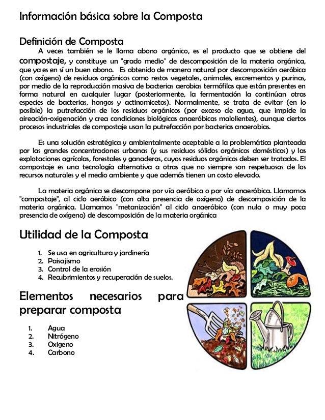 M dulo 16 composta for Informacion sobre el suelo
