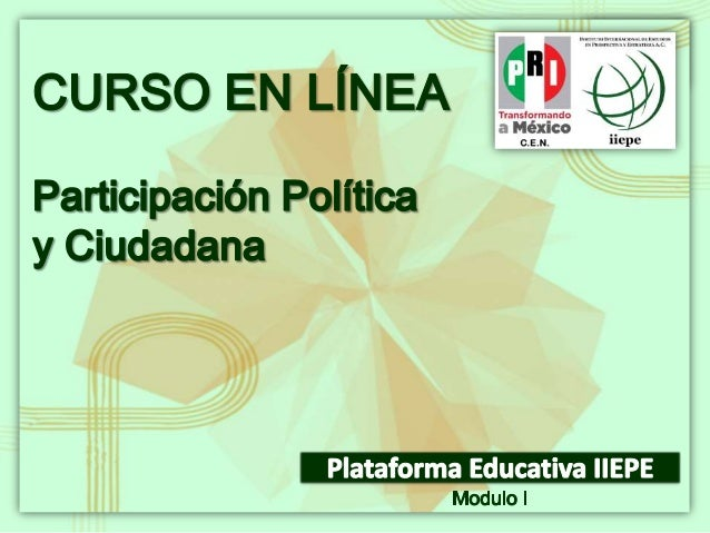 Módulo IDemocracia, conceptosfundamentales y Cultura PolíticaCurso: Participación Política yCiudadana (20)Maestra Ángeles ...